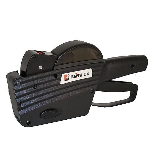 Blitz C6 on laadukas ja miellyttävä 1-rivinen hinnoittelukone ammattikäyttöön. 6 selkeää merkkiä. Hintaetiketin koko 26x12mm.