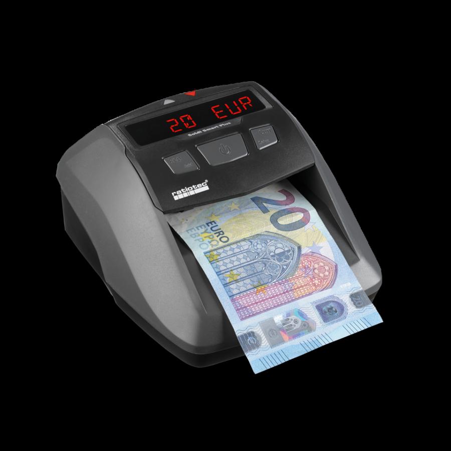 Soldi Smart Pro tarjoaa turvallisuutta tarkistamalla setelin. Laitteen tunnistaessa väärennetyn setelin, antaa se näyttövaroituksen lisäksi merkkiäänen. LCD-näyttö punaisilla numeroilla.
