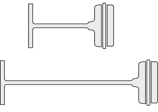 Nylonkiinnike kiinnikepistoolille, materiaali polypropeeni (PP-muovi).