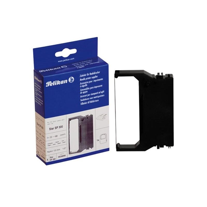 ATK/kassakone-värinauha. Musta nylon-värinauha 13mm / 7,5m. Perinteisille kassakoneille, kuten Samsung ER-350 tai Sanyo ECR-358.